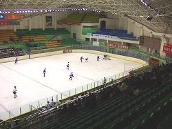 チチハル市体育館のイレギュラーなスタンド