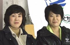 現役時代は、ともに女子日本代表のキャプテンを務めた、佐藤理絵さん(右)と大森雅子さん(左)