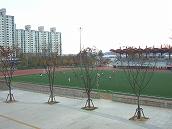 オウルリムルリの敷地内には陸上競技場やプールなどのスポーツ施設が