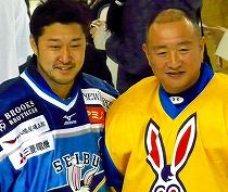 新旧のポイントゲッター蝦名元樹選手(右)と鈴木貴人選手(左)