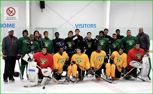 Jamaican Olympic Ice Hockey tryouts
