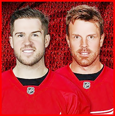 Mike Green(L) and Brad Richards