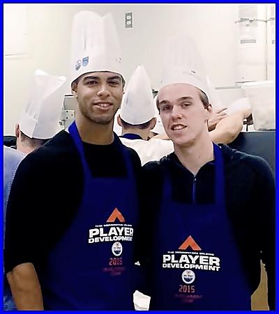 Connor McDavid(R)  and Darnell Nurse