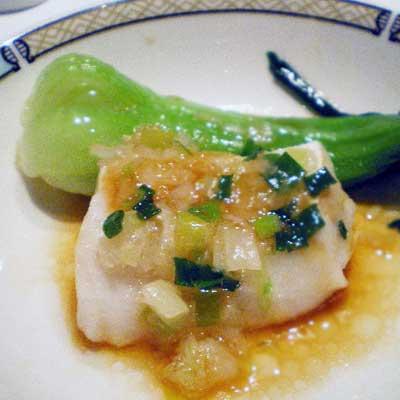 白身魚のガーリック焼き
