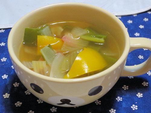 春ピーマンのスープ