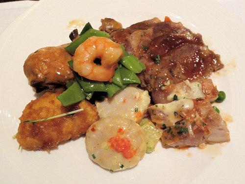 温かい肉と魚