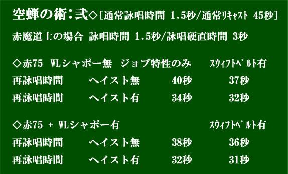 空蝉の術弐 リキャスト