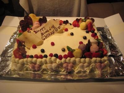 手づくりのケーキ