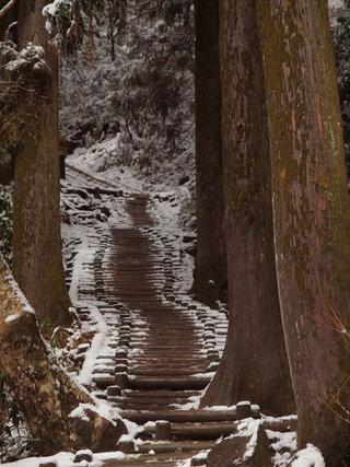 雪の筑波山1