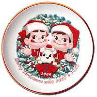 ペコちゃんクリスマスプレート2009