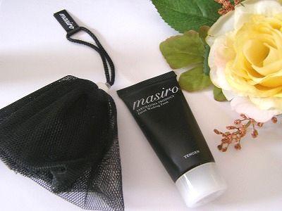 火山灰洗顔料ブランドのマシロ(mashiro) フェイシャルウォッシングフォームと泡立てネット