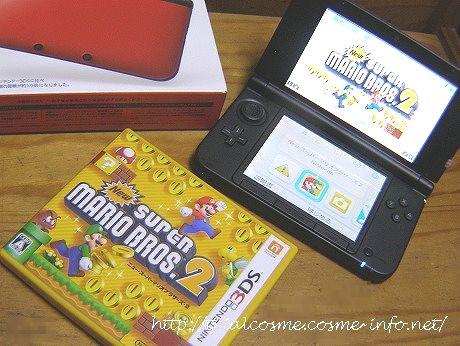 ニンテンドー3DS・LL(レッド×ブラック)&Newスーパーマリオブラザーズ2(3DSソフト)♪