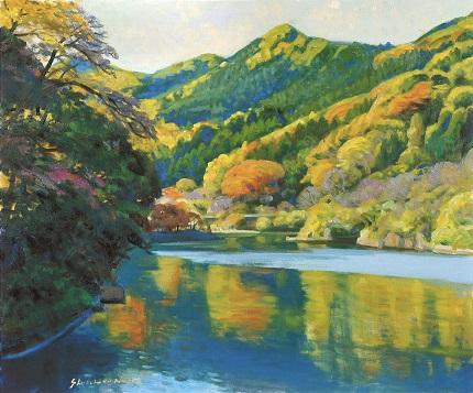 4.錦秋の間瀬湖.jpg
