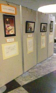 団体ごとに写真を展示