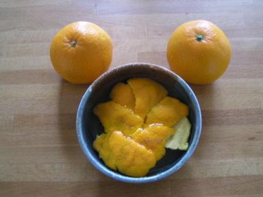 無農薬の柑橘の皮(セッケンシャンプーに混ぜます)