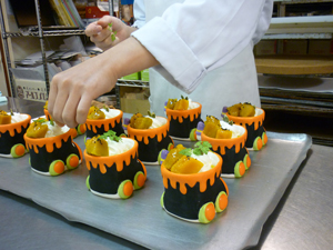 かぼちゃプリン制作風景