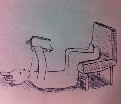 新しい椅子の座り方