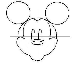 ディズニーの噂・裏技・裏話_ミッキーの描き方(書き方)手順4