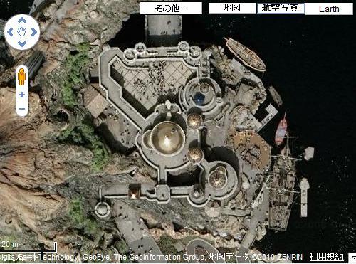 ディズニーの噂・裏技・裏話_マゼランドを航空写真で上空から見た写真