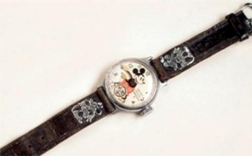 1933年にインガーソル社が製造したディズニー初の腕時計