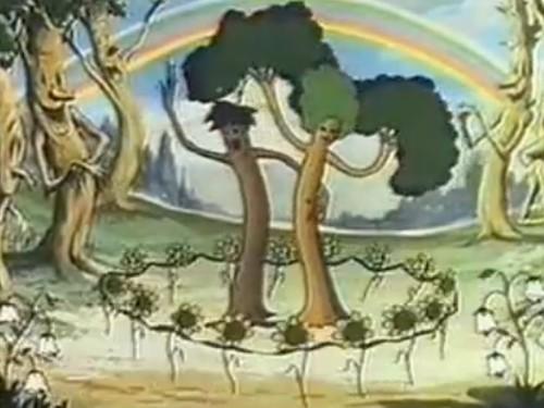 ディズニーの噂・裏技・裏話_世界初のカラーアニメの花と木