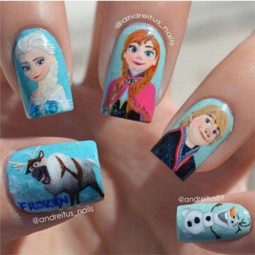 ディズニーの噂・裏技・裏話_「アナと雪の女王」のネイルアートがすごすぎる