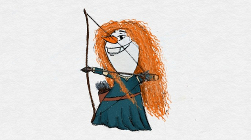 ディズニーの噂・裏技・裏話_もしも「アナと雪の女王」のオラフがディズニープリンセスになったら