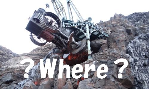 ディズニーの噂・裏技・裏話_ミステリアスアイランドで火山に突き刺さった掘削機の近くに隠れミッキー