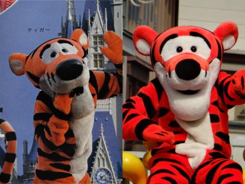 ディズニーの噂・裏技・裏話_今と昔(1980年代)のディズニーキャラクターを比較!(ミッキー、ミニー、プルート、三匹の子ぶた、ティガー)