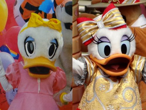 ディズニーの噂・裏技・裏話_今と昔(1980年代)のディズニーキャラクターを比較!(ドナルド、デイジー、グーフィー、チップ、デール)