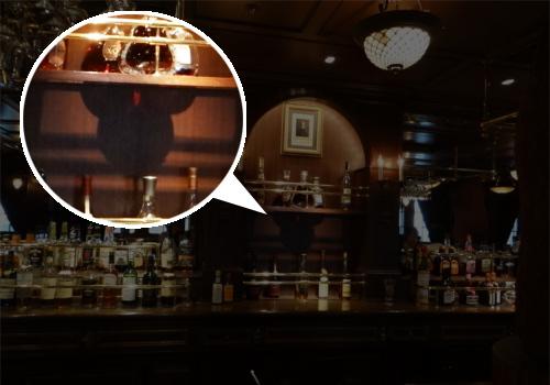 ディズニーの噂・裏技・裏話_ディズニーシーの「テディ・ルーズヴェルト・ラウンジ」カウンターに隠れミッキー