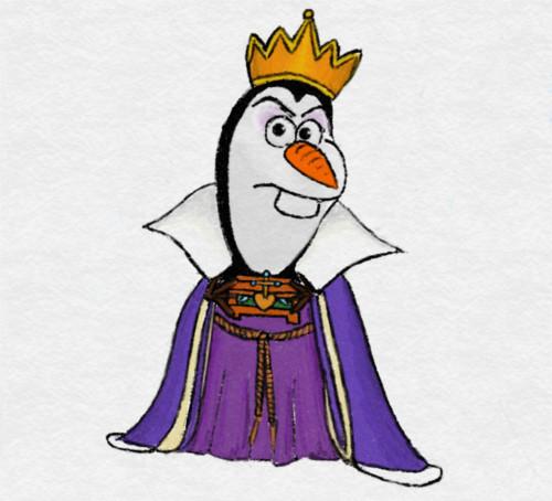 ディズニーの噂・裏技・裏話_もしも「アナと雪の女王」のオラフがディズニーヴィランズになったら