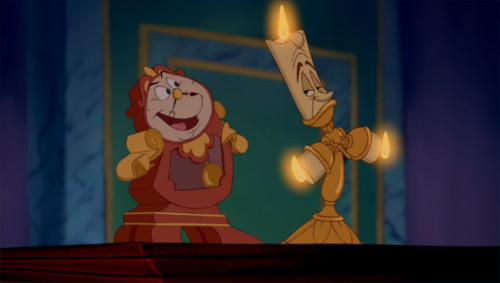 「美女と野獣」のキャラクターのビフォーアフターをチェック(ルミエールとコグスワース