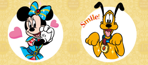 ディズニーシー15周年を記念して8種類のLINEスタンプを無料配布_3