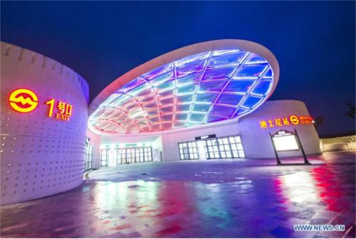 上海ディズニーの地下鉄駅「ディズニー・リゾート駅」が運行開始_1