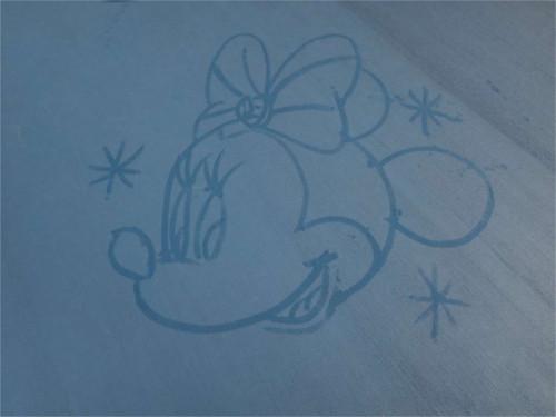 ジェラトーニがかわいい!シー15周年限定のカストーディアルお絵かきアート_ミニー