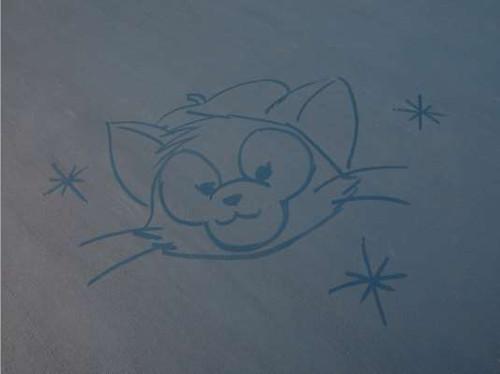 ジェラトーニがかわいい!シー15周年限定のカストーディアルお絵かきアート_ジェラトーニ