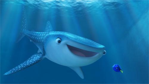 「タートル・トーク」に「ファインディング・ドリー」のキャラクターが登場(ジンベエザメのデスティニー)