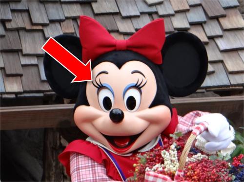ミッキーの鼻がめちゃくちゃでかい!ミッキーとミニーの顔の違い_まつ毛