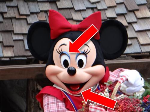 ミッキーの鼻がめちゃくちゃでかい!ミッキーとミニーの顔の違い_メイク