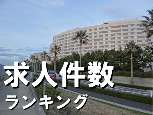 浦安市は何位?千葉県の市区町村別 求人件数ランキング