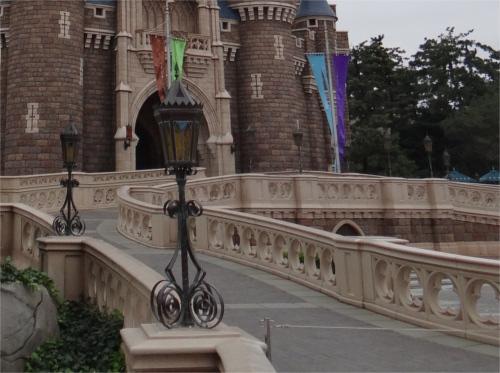 シンデレラ城のスロープ