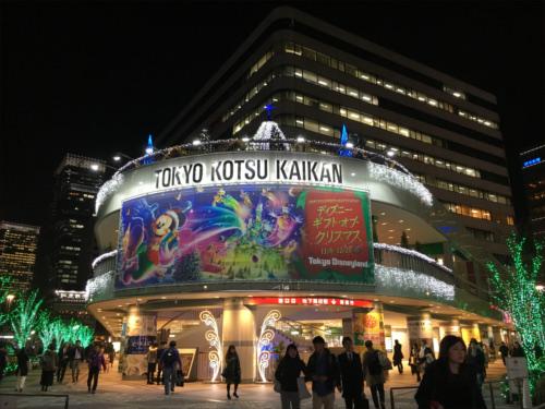 有楽町駅前広場のディズニーキャラクター・クリスマスツリーがとにかく綺麗