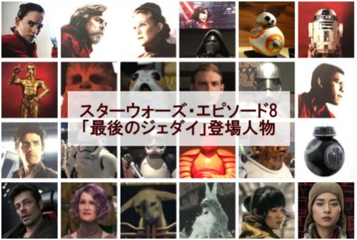 「スターウォーズ・エピソード8/最後のジェダイ」の登場人物・キャラクター一覧