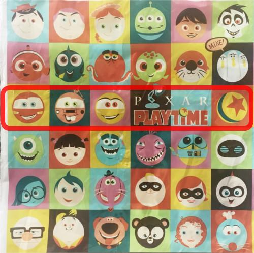「ピクサープレイタイム」で買い物袋に描かれたキャラクターの名前まとめ_3行目