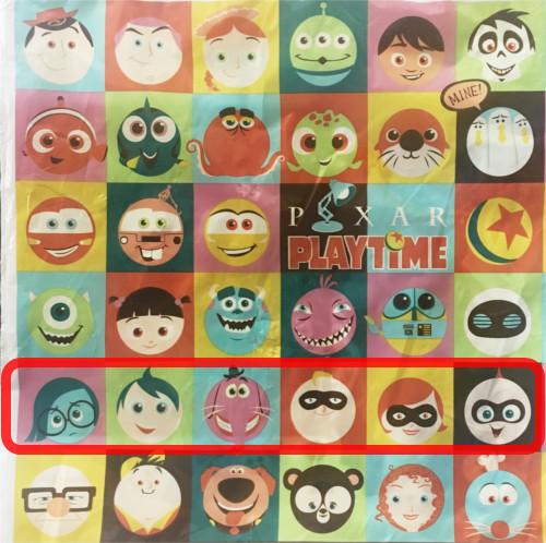 「ピクサープレイタイム」で買い物袋に描かれたキャラクターの名前まとめ_5行目