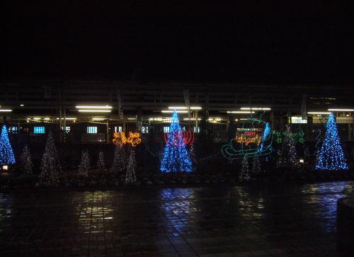 深谷駅前クリスマスイルミネーション