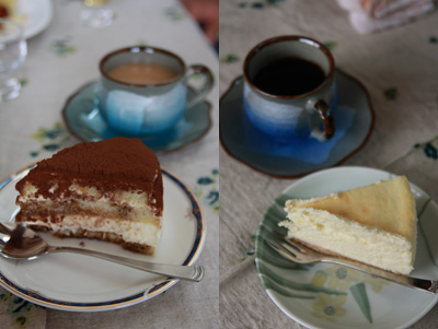 ティラミスとチーズケーキ♪