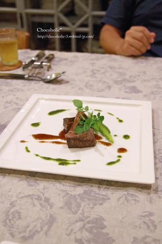信州牛の香草焼きグリーンソースを添えて