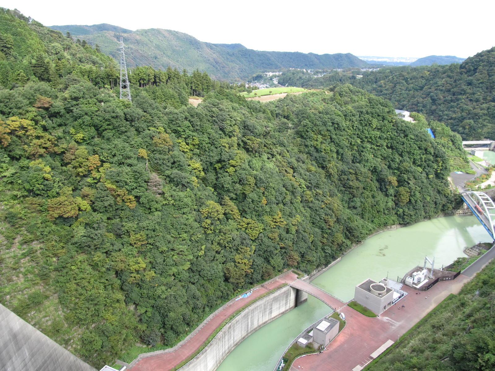ダムから下を見ると、、、